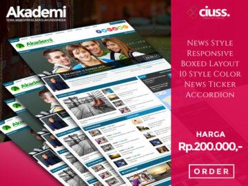 AKADEMI - Tema Wordpress Sekolah - Tema Wordpress Indonesia