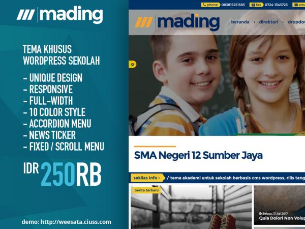 MADING - Tema Wordpress Sekolah