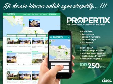 PROPERTIX - Tema Agen Property Wordpress - Tema Wordpress Indonesia