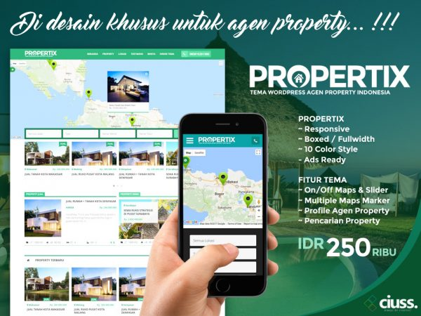 PROPERTIX - Tema Agen Property Wordpress