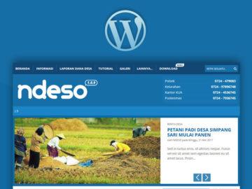 WP NDESO - Tema Gratis Untuk Website Desa - Tema Wordpress Indonesia