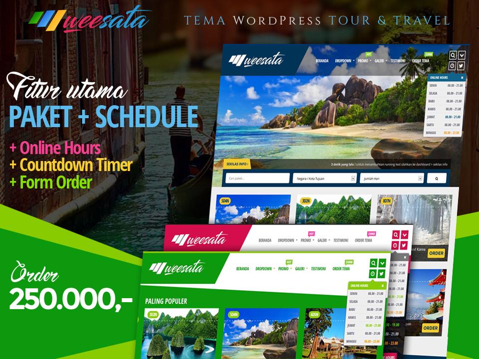 WEESATA - Tema Tour Dan Travel Wordpress