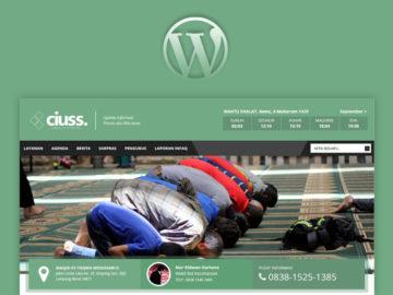 WP MASJID - Tema Khusus Website Masjid - Tema Wordpress Indonesia