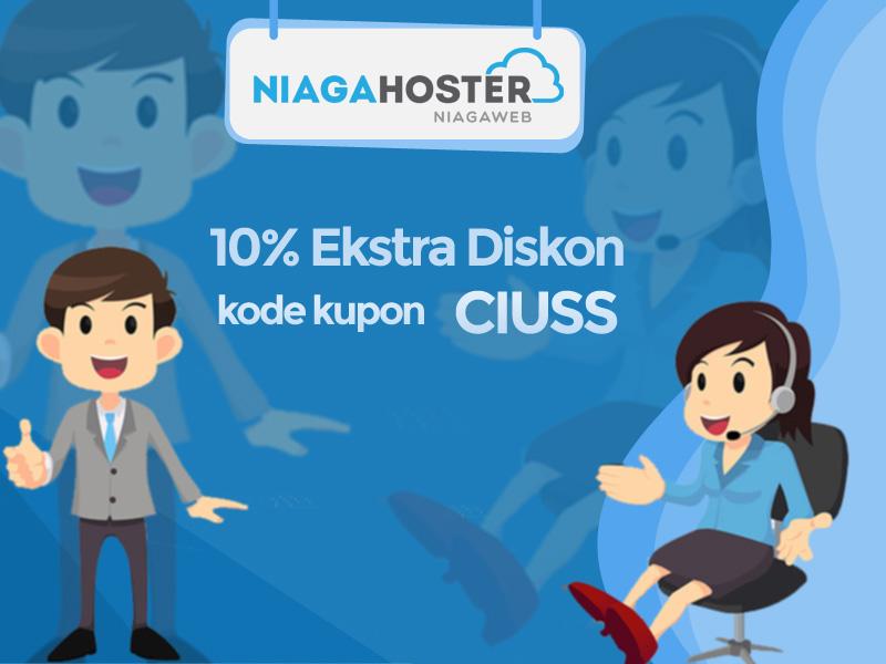 "Kupon ""CIUSS"", Ekstra Diskon 10% Hosting Niagahoster"