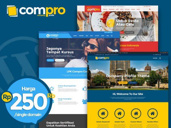 COMPRO, Tema Company Profile Wordpress