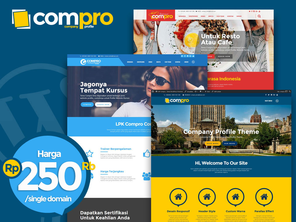 COMPRO, Tema Company Profile Wordpress