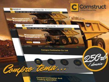 Compro Comstruct - Tema Company Profile - Tema Wordpress Indonesia