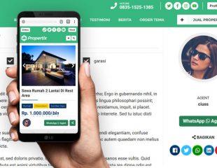 Order / Chat WhatsApp Agen Pada Tema Propertix 2.0