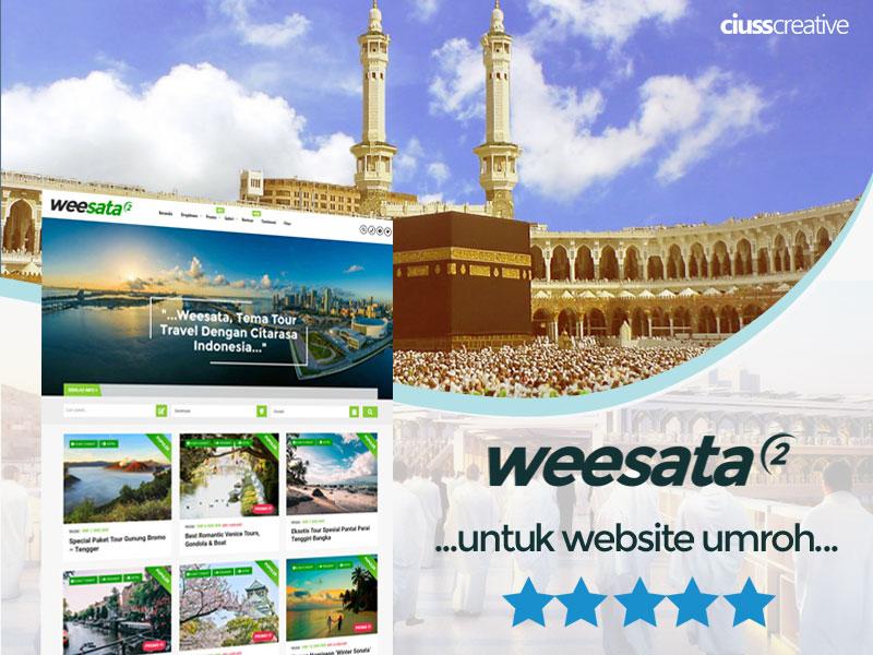 Tema Weesata, Untuk Website Jasa Perjalanan Umroh