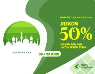 Promo Diskon 50%, Kebahagiaan Lebaran 01-15 Juni