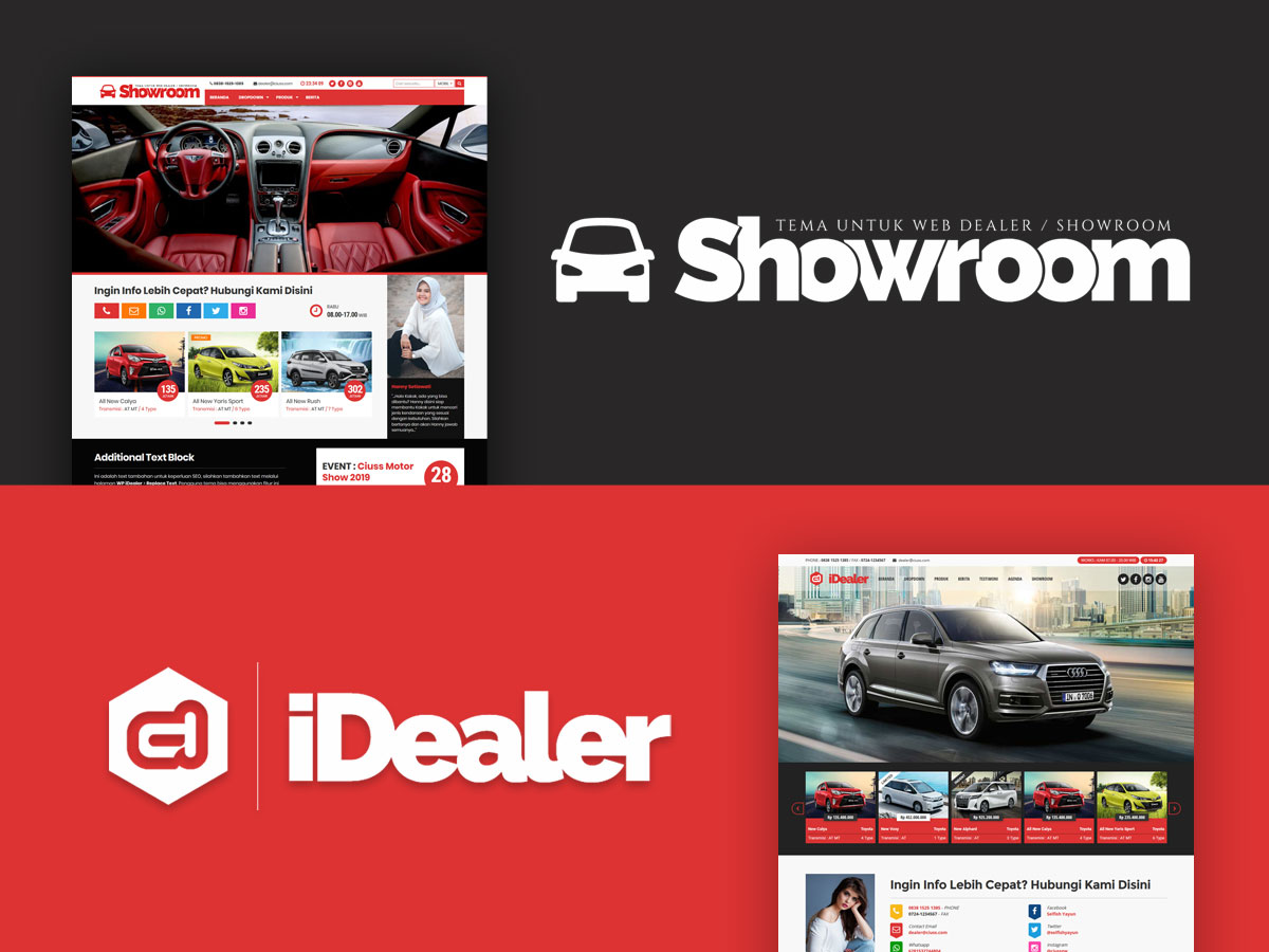 Tema iDealer VS Tema Showroom, Pilih Yang Mana?