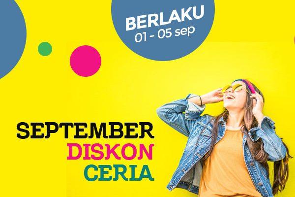 """September """"Diskon Ceria"""", 20% Potongan Harga Tema Ciuss"""