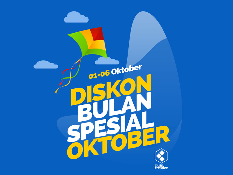 Oktober Spesial, Diskon 20% Tema Ciuss Creative