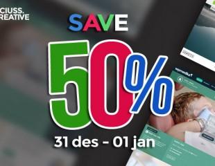 Semarak Diskon 50% Tahun Baru, 31 Des & 01 Jan