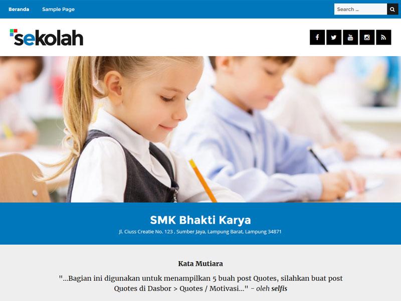 Coming Soon, Tema Gratis WP Sekolah