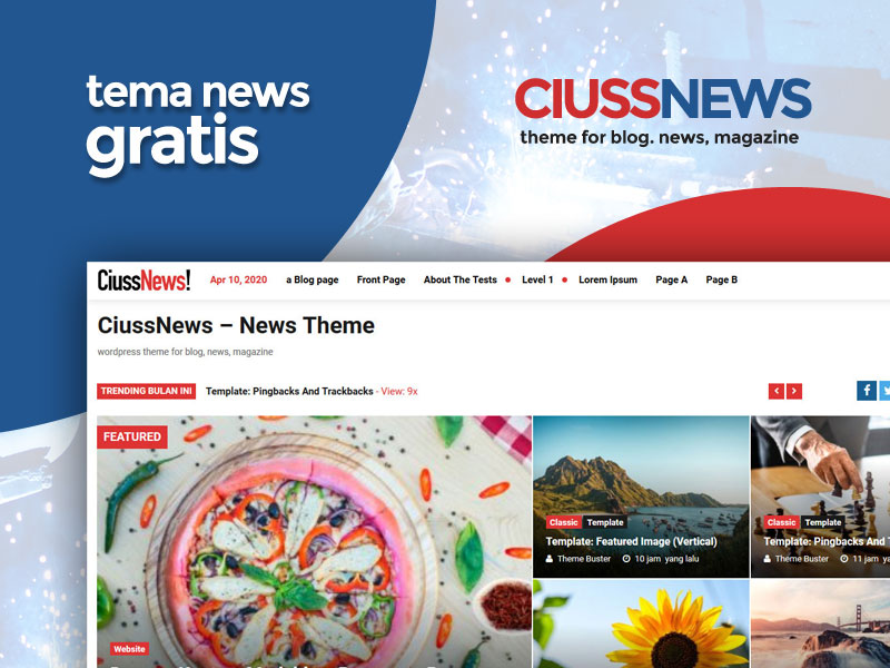 CiussNews, Tema News GRATIS Dari Ciuss