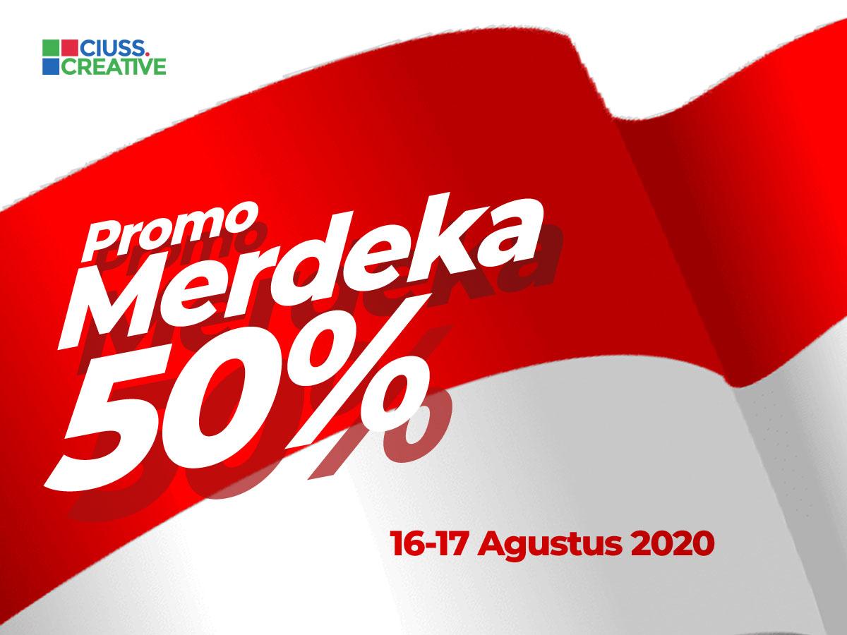 Promo Merdeka 50% HUT Republik Indonesia Ke-75