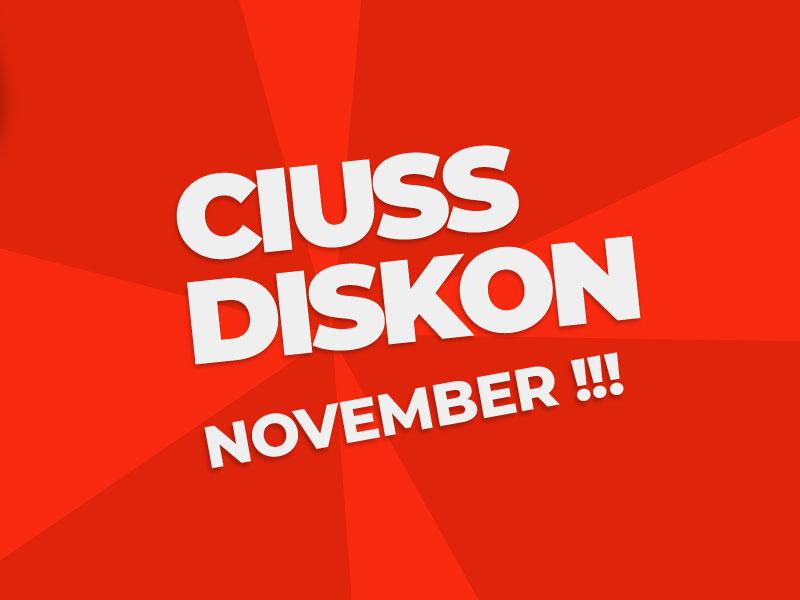 Gebyar Promo Ciuss : 1 - 5 Nov 2020